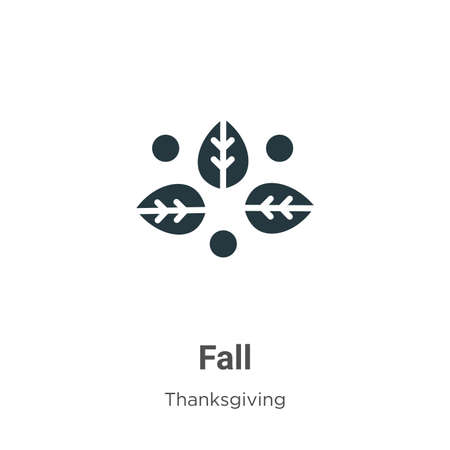 Fall glyph icon vector on white background. Flat vector fall icon symbol sign from modern thanksgiving collection for mobile concept and web apps design. Ilustração