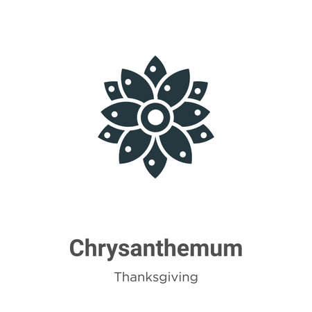 Chrysanthemum glyph icon vector on white background. Flat vector chrysanthemum icon symbol sign from modern thanksgiving collection for mobile concept and web apps design.