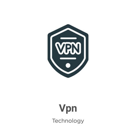 Vpn glyph icon vector on white background. Flat vector vpn icon symbol sign from modern technology collection for mobile concept and web apps design.