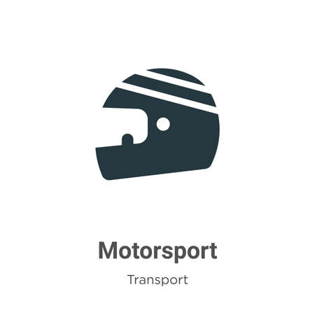 Motorsport glyph icon vector on white background. Flat vector motorsport icon symbol sign from modern transport collection for mobile concept and web apps design. 일러스트