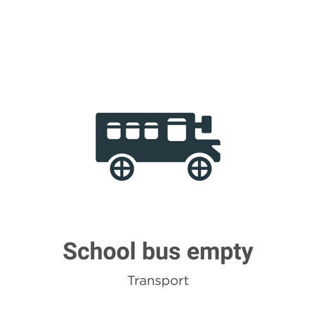 School bus empty glyph icon vector on white background. Flat vector school bus empty icon symbol sign from modern transport collection for mobile concept and web apps design. Ilustração