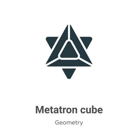 Metatron cube glyph icon vector on white background. Flat vector metatron cube icon symbol sign from modern geometry collection for mobile concept and web apps design.