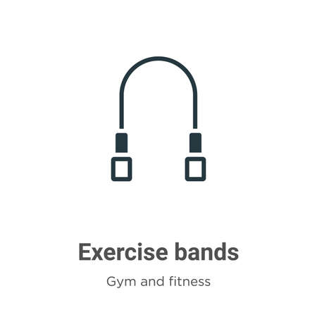 Exercise bands glyph icon vector on white background. Flat vector exercise bands icon symbol sign from modern gym and fitness collection for mobile concept and web apps design.