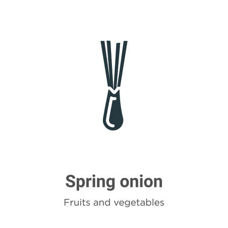 Spring onion glyph icon vector on white background. Flat vector spring onion icon symbol sign from modern fruits collection for mobile concept and web apps design.