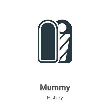 Mummy glyph icon vector on white background. Flat vector mummy icon symbol sign from modern history collection for mobile concept and web apps design.