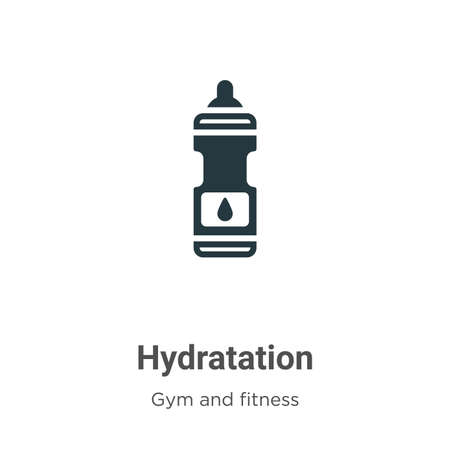 Hydratation glyph icon vector on white background. Flat vector hydratation icon symbol sign from modern gym and fitness collection for mobile concept and web apps design.