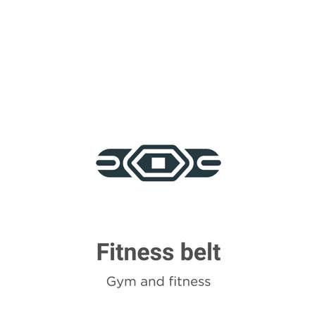 Fitness belt glyph icon vector on white background. Flat vector fitness belt icon symbol sign from modern gym and fitness collection for mobile concept and web apps design. Ilustração