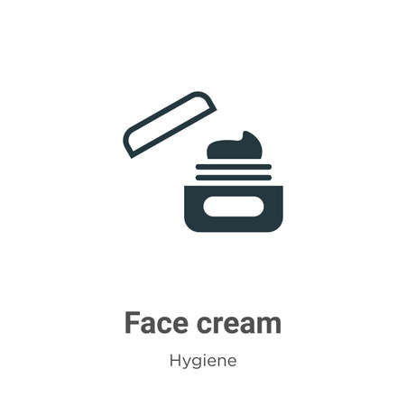 Face cream glyph icon vector on white background. Flat vector face cream icon symbol sign from modern hygiene collection for mobile concept and web apps design.