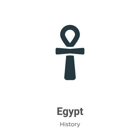 Egypt glyph icon vector on white background. Flat vector egypt icon symbol sign from modern history collection for mobile concept and web apps design. 向量圖像