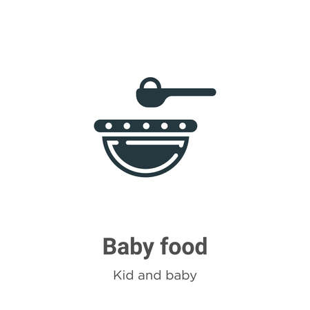 Baby food glyph icon vector on white background. Flat vector baby food icon symbol sign from modern kid and baby collection for mobile concept and web apps design.