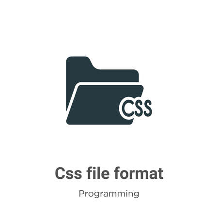 Css file format glyph icon vector on white background. Flat vector css file format icon symbol sign from modern programming collection for mobile concept and web apps design. Vector Illustratie