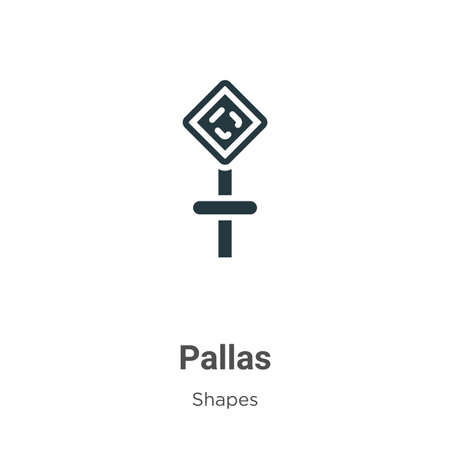 Pallas glyph icon vector on white background. Flat vector pallas icon symbol sign from modern shapes and symbols collection for mobile concept and web apps design. Ilustración de vector