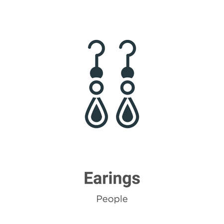 Earings glyph icon vector on white background. Flat vector earings icon symbol sign from modern people collection for mobile concept and web apps design.