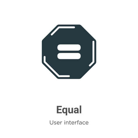 Equal glyph icon vector on white background. Flat vector equal icon symbol sign from modern user interface collection for mobile concept and web apps design.