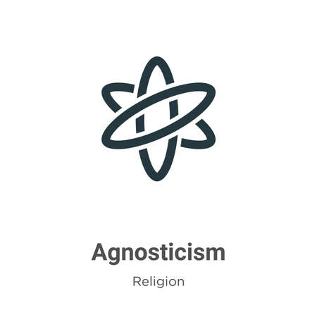 Agnosticism glyph icon vector on white background. Flat vector agnosticism icon symbol sign from modern religion collection for mobile concept and web apps design. Vecteurs