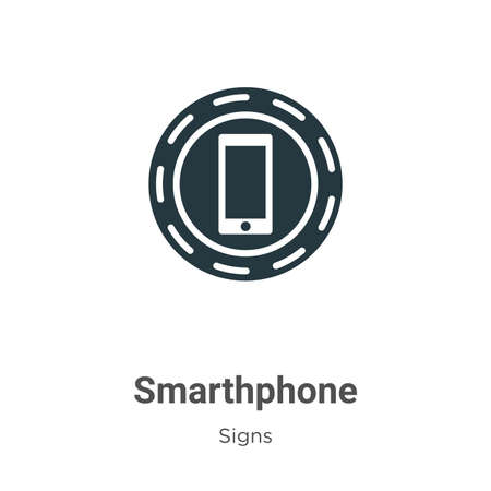 Smarthphone glyph icon vector on white background. Flat vector smarthphone icon symbol sign from modern signs collection for mobile concept and web apps design.