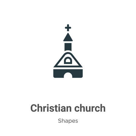 Christian church glyph icon vector on white background. Flat vector christian church icon symbol sign from modern shapes and symbols collection for mobile concept and web apps design.