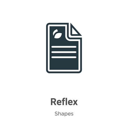 Reflex glyph icon vector on white background. Flat vector reflex icon symbol sign from modern shapes collection for mobile concept and web apps design.  イラスト・ベクター素材
