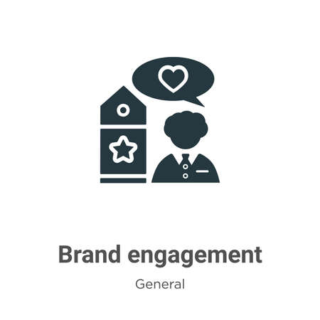 Brand engagement glyph icon vector on white background. Flat vector brand engagement icon symbol sign from modern general collection for mobile concept and web apps design.