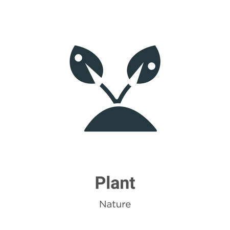 Plant icon glyph icon vector on white background. Flat vector plant icon icon symbol sign from modern nature collection for mobile concept and web apps design.