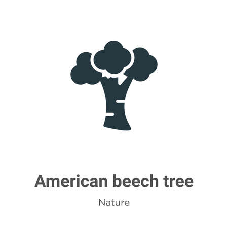 American beech tree glyph icon vector on white background. Flat vector american beech tree icon symbol sign from modern nature collection for mobile concept and web apps design.