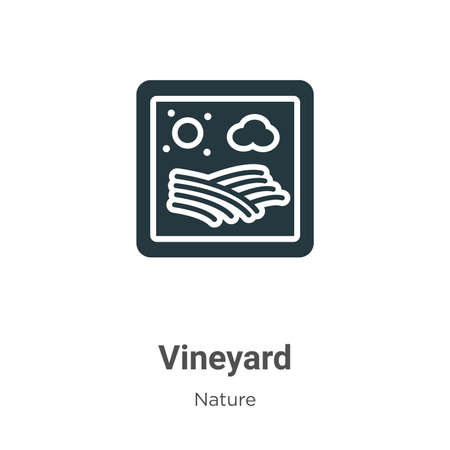 Vineyard glyph icon vector on white background. Flat vector vineyard icon symbol sign from modern nature collection for mobile concept and web apps design. Ilustrace
