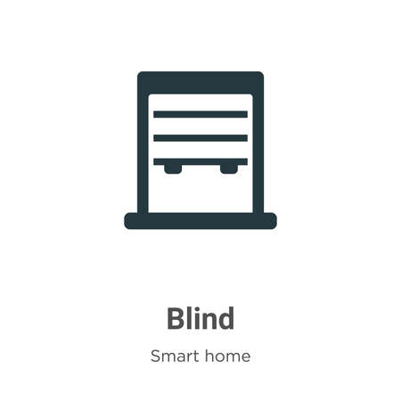 Blind glyph icon vector on white background. Flat vector blind icon symbol sign from modern smart house collection for mobile concept and web apps design. 向量圖像