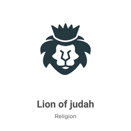 Lion of judah glyph icon vector on white background. Flat vector lion of judah icon symbol sign from modern religion collection for mobile concept and web apps design. Ilustração