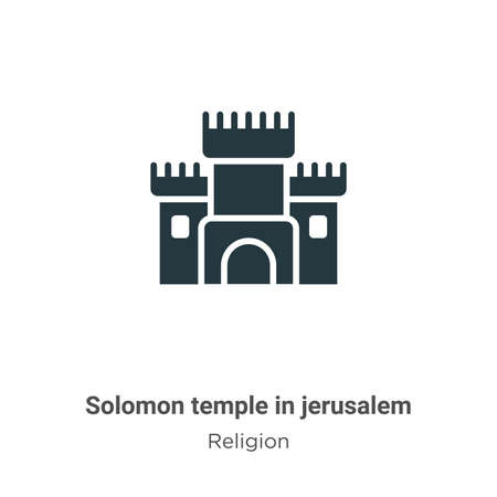 Solomon temple in jerusalem glyph icon vector on white background. Flat vector solomon temple in jerusalem icon symbol sign from modern religion collection for mobile concept and web apps design.