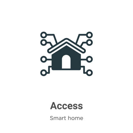 Access glyph icon vector on white background. Flat vector access icon symbol sign from modern smart house collection for mobile concept and web apps design.