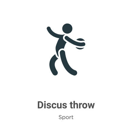 Discus throw glyph icon vector on white background. Flat vector discus throw icon symbol sign from modern sport collection for mobile concept and web apps design.