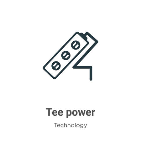 Tee power glyph icon vector on white background. Flat vector tee power icon symbol sign from modern technology collection for mobile concept and web apps design.