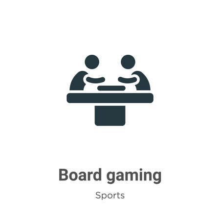 Board gaming glyph icon vector on white background. Flat vector board gaming icon symbol sign from modern sports collection for mobile concept and web apps design.