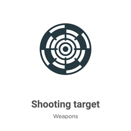Shooting target glyph icon vector on white background. Flat vector shooting target icon symbol sign from modern weapons collection for mobile concept and web apps design.