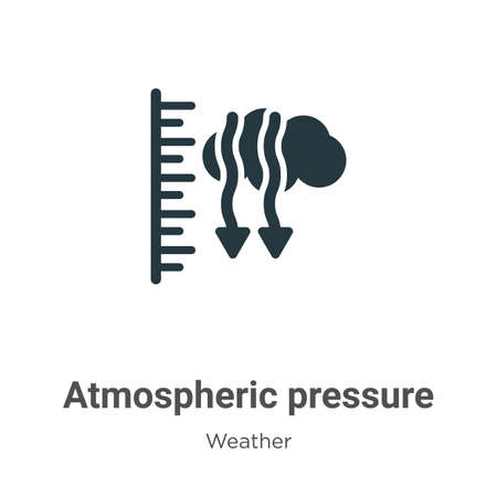 Atmospheric pressure glyph icon vector on white background. Flat vector atmospheric pressure icon symbol sign from modern weather collection for mobile concept and web apps design.