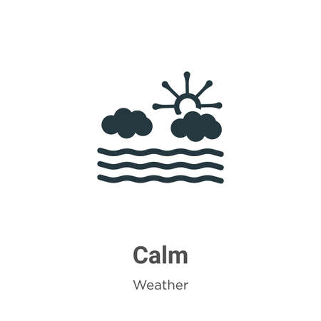 Calm glyph icon vector on white background. Flat vector calm icon symbol sign from modern weather collection for mobile concept and web apps design.