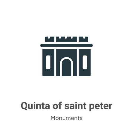 Quinta of saint peter of alexandria glyph icon vector on white background. Flat vector quinta of saint peter of alexandria icon symbol sign from modern monuments collection for mobile concept and web