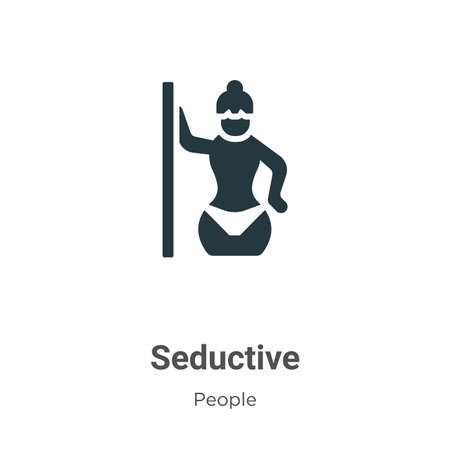 Seductive glyph icon vector on white background. Flat vector seductive icon symbol sign from modern people collection for mobile concept and web apps design.