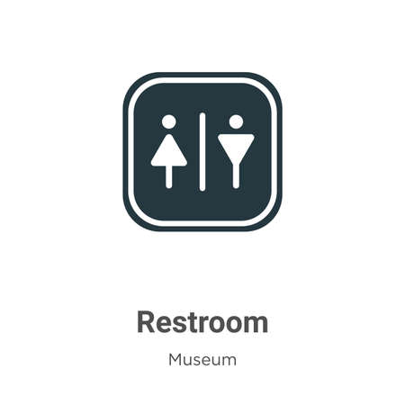 Restroom glyph icon vector on white background. Flat vector restroom icon symbol sign from modern museum collection for mobile concept and web apps design.