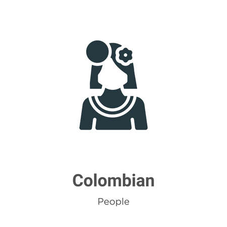 Colombian glyph icon vector on white background. Flat vector colombian icon symbol sign from modern people collection for mobile concept and web apps design.