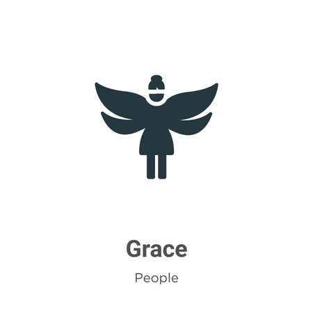 Grace glyph icon vector on white background. Flat vector grace icon symbol sign from modern people collection for mobile concept and web apps design.