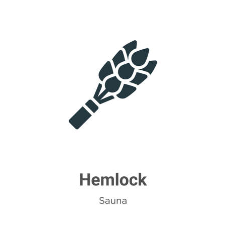 Hemlock glyph icon vector on white background. Flat vector hemlock icon symbol sign from modern sauna collection for mobile concept and web apps design.