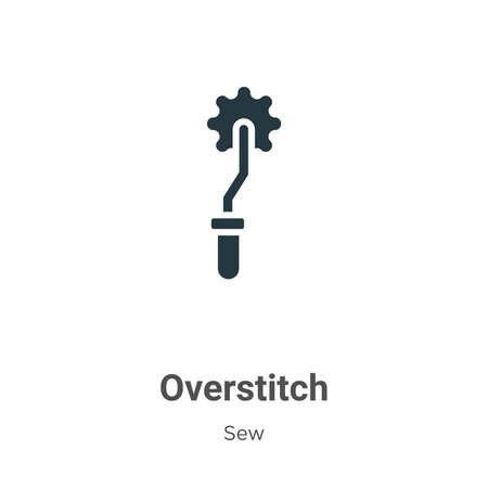 Overstitch glyph icon vector on white background. Flat vector overstitch icon symbol sign from modern sew collection for mobile concept and web apps design.