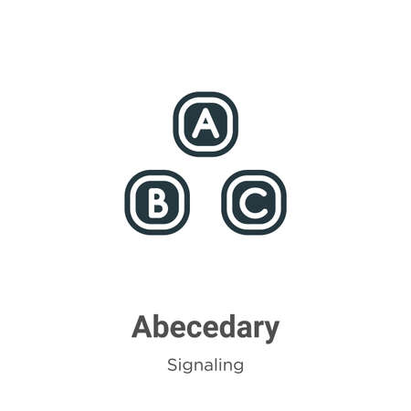 Abecedary glyph icon vector on white background. Flat vector abecedary icon symbol sign from modern signaling collection for mobile concept and web apps design.