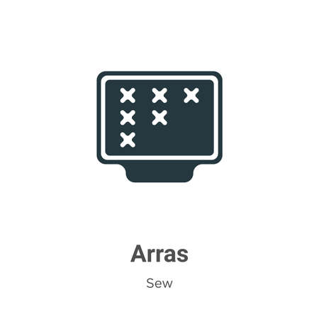 Arras glyph icon vector on white background. Flat vector arras icon symbol sign from modern sew collection for mobile concept and web apps design.