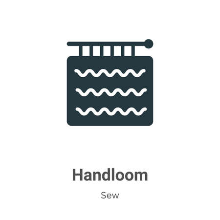 Handloom glyph icon vector on white background. Flat vector handloom icon symbol sign from modern sew collection for mobile concept and web apps design. Vektoros illusztráció