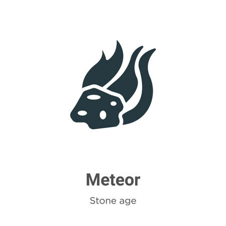 Meteor glyph icon vector on white background. Flat vector meteor icon symbol sign from modern stone age collection for mobile concept and web apps design.