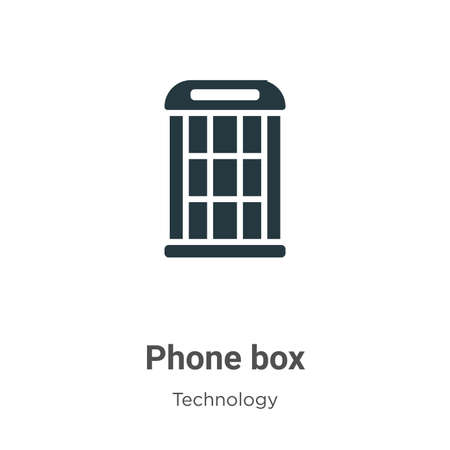Phone box glyph icon vector on white background. Flat vector phone box icon symbol sign from modern technology collection for mobile concept and web apps design.