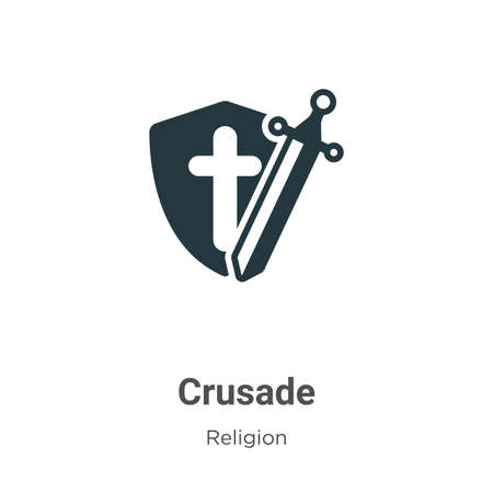Crusade glyph icon vector on white background. Flat vector crusade icon symbol sign from modern religion collection for mobile concept and web apps design.
