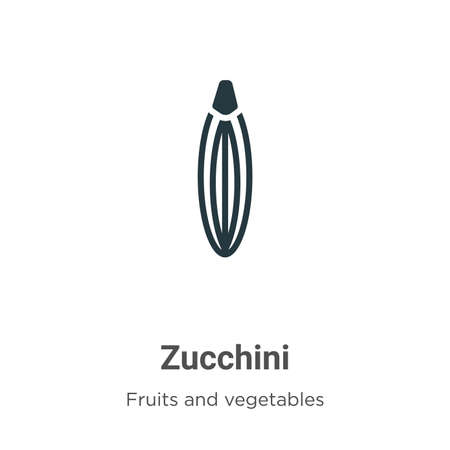 Zucchini glyph icon vector on white background. Flat vector zucchini icon symbol sign from modern fruits and vegetables collection for mobile concept and web apps design.